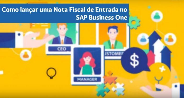nota fiscal de entrada sap business one