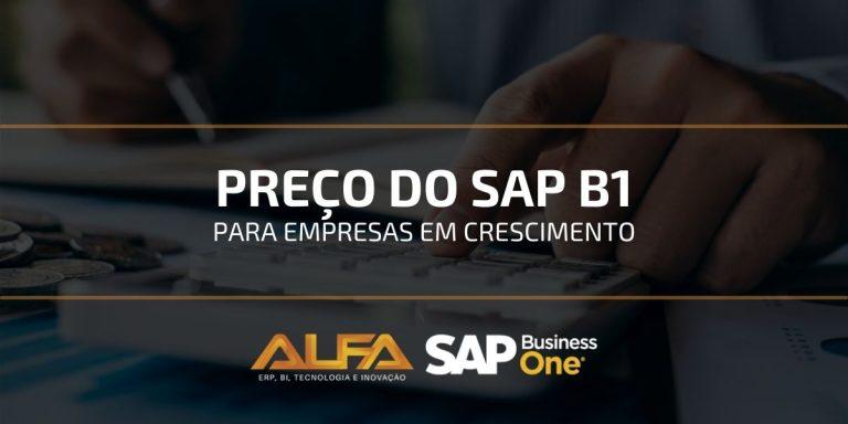 preço do SAP business one para PMEs