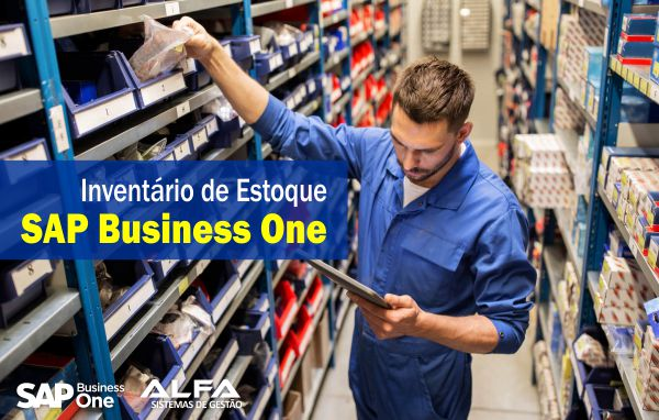 inventário de estoque SAP Business One