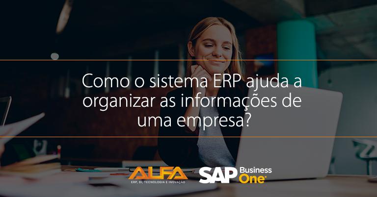 Sistema ERP na organização das informações