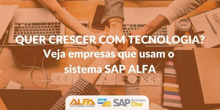 Conheça algumas empresas que são clientes SAP ALFA